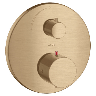 Axor Starck Смеситель для душа, встраиваемый, термостат, 1 потреб, цвет: шлифованная бронза