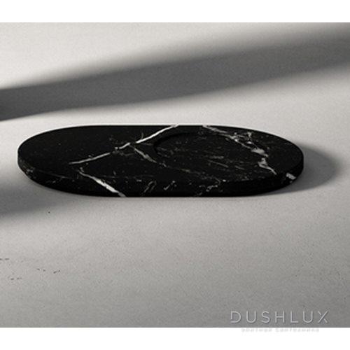 Agape Constellation Мыльница мраморная 25х16х1.5 см, мрамор Marquina, цвет: черный
