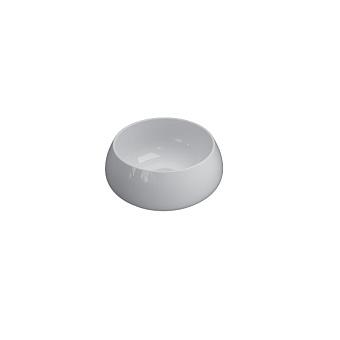 GLOBO T-Edge Раковина-чаша на столешницу d35х14 см, без отв. под смеситель, цвет: белый