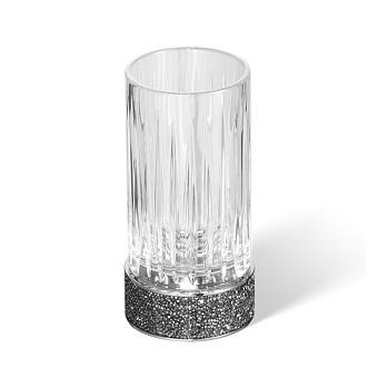 Decor Walther Rocks SMG Стакан настольный, граненое стекло, с кристаллами Swarovski, цвет: хром