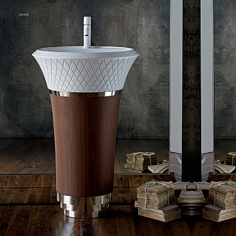 Falper George Напольная раковина 58х58х87 см отделка - дерево