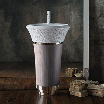Falper George Напольная раковина 58х58х87 см, цвет: серый Каналетто