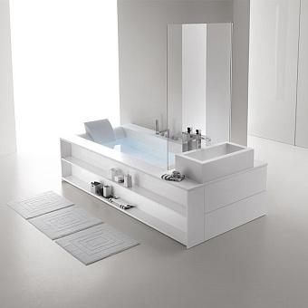 Ванна пристенная с рамой и аэромассажем Hafro Sensual прямоугольной формы, 250х120х60 см, SX, цвет белый