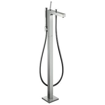 Axor Citterio Смеситель для ванны, однорычажный, с ручным душем, напольный, цвет: хром