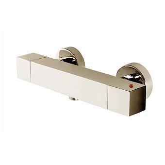 Bossini Cube Tермостат для душа, наружный, 1 выход  1/2', цвет: никель шлифованный