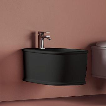 Artceram Atelier Биде подвесное 52х37см, с 1 отв под смеситель, цвет: черный матовый