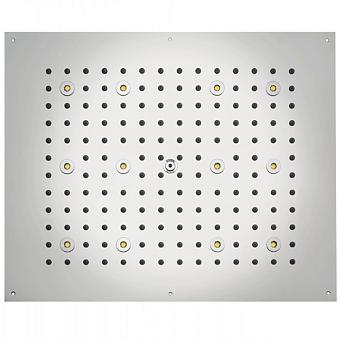 BOSSINI DREAM-RECTANGULAR Верхний душ 570x470 мм, с 12 LED RGB, блок питания/управления, Cromoterapia, цвет: белый матовый