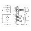 """Zucchetti Pan Встроенный термостатический смеситель, 1/2"""", с запорным клапаном, цвет: хром"""