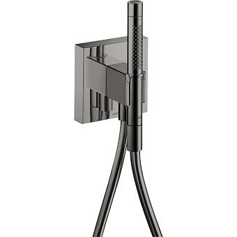Axor Shower Porter Душевой гаринитур, c ручным душем с 2 режимами, шланг 125см, настенный, цвет: черный хром