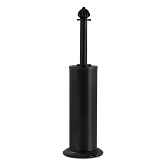 3SC Piccadilly Туалетный ёршик, напольный, цвет: черный матовый