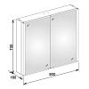 Keuco Royal Match Зеркальный шкаф с подсветкой 800*700*160 мм, 2 дверцы