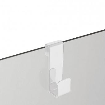 3SC APPY Крючок навесной на стекло, одинарный, цвет: белый матовый