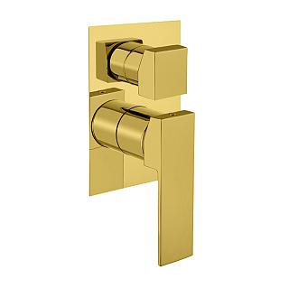 Webert Pegaso Смеситель для душа, с девиатором, встраиваемый, на 3-потока, цвет: золото