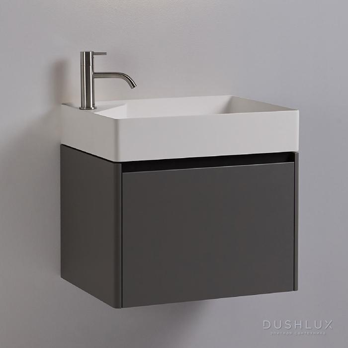 Antonio Lupi Simplo Комплект подвесной мебели 45х25хh50см, с раковиной, с 1 дверцей DX, цвет: Matita goffrato