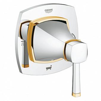 Grohe Grandera, Внешняя панель для встраиваемого переключателя, Цвет: хром/золото