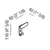 Agape Mach 2 Вешалка настенная 11.6x8 см, цвет: черный