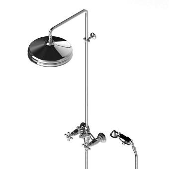 Stella Roma Душевой комплект 3284/301/314A-300: смеситель, штанга+ручной+верхний душ 300мм, цвет: хром
