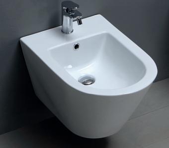 AZZURRA FORMA Биде подвесное  54х37х30,5см , с 1 отв под смеситель, цвет: белый