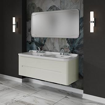 KERASAN Waldorf Комплект подвесной/напольной мебели 150см,  с 4 ящиками, цвет: матовый белый НОЖКИ НА ВЫБОР