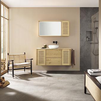 Burgbad MAX Комплект мебели 130х49х72см, подвесной, с раковиной, с зеркалом, с 2 ящиками, цвет: Natural knotty oak