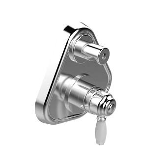 Stella Italica Внешняя часть Встраиваемый смеситель для ванны/душа 3254MC P.V. с авт.переключателем, цвет: хром