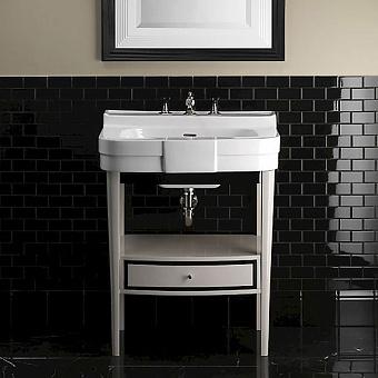 Devon&Devon Bogart Консоль 70х54см, с раковиной на 3 отверстия, цвет: pure white