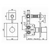 Zucchetti Bellagio Встроенный термостатический смеситель с запорным клапаном 1/2, цвет: хром
