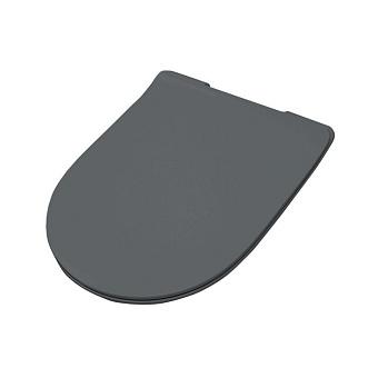Artceram FILE 2.0 Крышка с сиденьем Slim для унитаза, механизм soft-close, цвет: blu denim/хром