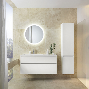 Burgbad Lin20 Комплект мебели 122х49.5х61.2см, подвесной, с раковиной, с зеркалом, с 2 ящиками, цвет: White matt