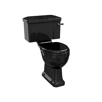 Burlington Classic Унитаза моноблок, 71х34.5см., цвет: черный