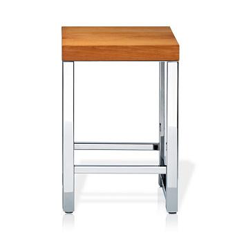 Decor Walther Wood HO Табурет 30x30x44см, цвет: сталь полированная / светлый бук