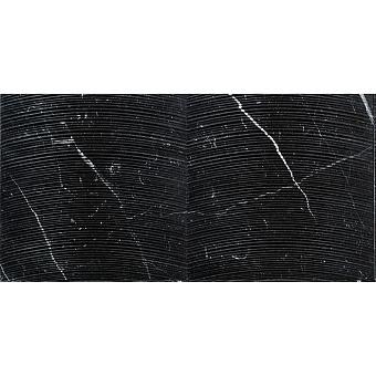 Lithos Design Cesello Натуральный камень 61x30.5x1см, настенный, материал: мрамор nero marquinia/dune