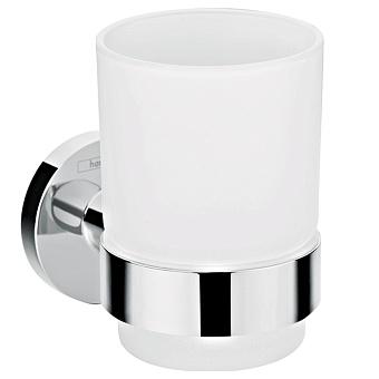 Hansgrohe Logis Universal Стакан для зубных щеток, цвет: хром/белый