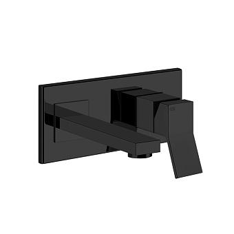 Gessi Rettangolo K Смеситель для раковины, встраиваемый, однорычажный, излив 147мм, цвет: Black XL