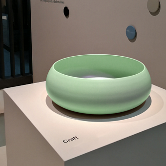 BETTECraft  Раковина-чаша 35х35х12 cм, без отв., на столешницу, круглая, без перелива, цвет: вечно зеленый 115