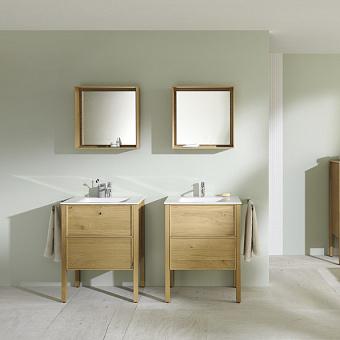 Burgbad MAX Комплект мебели 70х49х91.2см, напольный, с раковиной, с зеркалом, с 2 ящиками, цвет: Natural knotty oak
