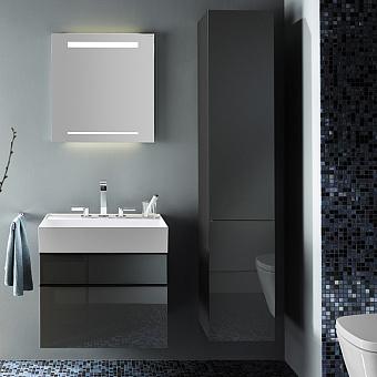Burgbad Yumo Шкаф подвесной 35x32x176 см, цвет серый