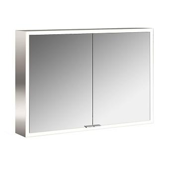 Emco Asis prime Зеркальный шкаф 1000х152хh700 мм, навесной, 2 дверки, 2 стекл.полки LED-подсветка сенсорн., розетка, боковые панели зеркало
