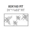 Fap Bloom Керамическая плитка 80x160см., для ванной, настенная, декор, цвет: металл серебро/grey