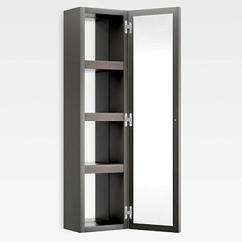 Armani Roca Island Настенный шкаф 30.2х16хh120см, с двумя зеркалами и полочками DX, цвет: nero