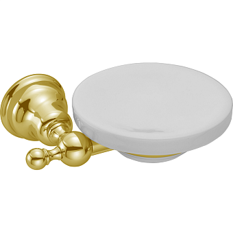 HUBER Croisette Мыльница подвесная, цвет золото/керамика