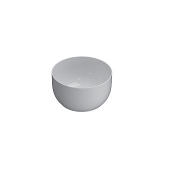 GLOBO T-Edge Раковина-чаша на столешницу d38х21 см, без отв. под смеситель, цвет: белый