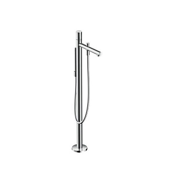 Axor Uno Смеситель для ванны, однорычажный, с ручным душем, напольный, цвет: хром