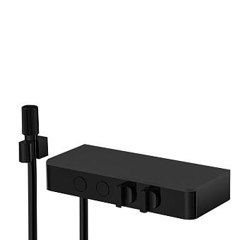 Carlo Frattini Switch Смеситель для душа встраиваемый, термостатичес, с запорн вент, 2 режима, цвет: черный матовый