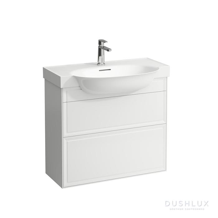 Laufen New Classic Тумба с раковиной, 775х315х675 мм, 2 ящика, цвет: белый глянцевый (для раковины 813855)
