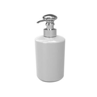 Stella Roma Дозатор для мыла, стекло матовое, цвет: хром