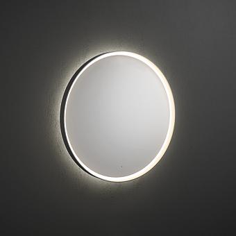 Burgbad Mya Зеркало с сенсорной подсветкой D90см,1 выкл., цвет: металлик
