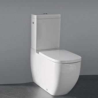 Laufen Palomba Унитаз моноблок напольный 70х36х43 см, безободковый, слив универсальный, цвет: белый