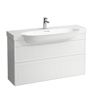 Laufen New Classic Тумба с раковиной, 1175х315х675 мм, 2 ящика, цвет: белый глянцевый