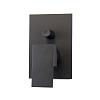 Webert Pegaso Смеситель для душа, встраиваемый, с переключателем на 2 потока, цвет: матовый черный